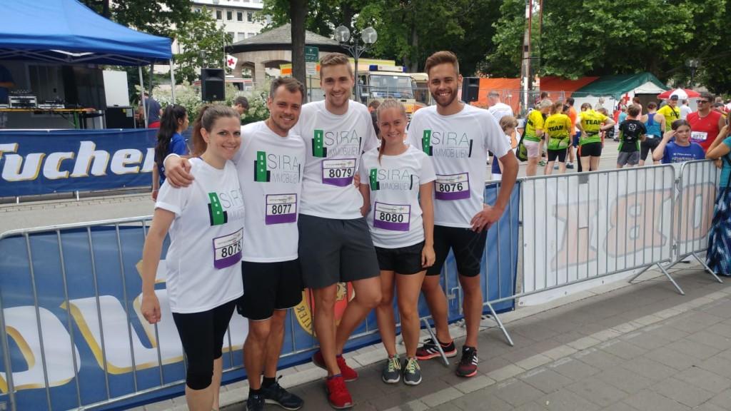 Die Teilnehmer am Metropolmarathon für SIRA Immobilien